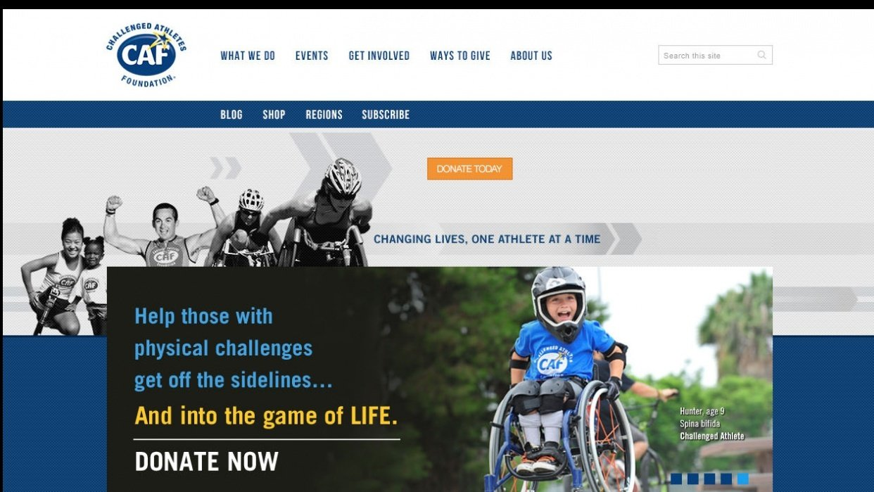 Challenged Athletes Foundation - student project