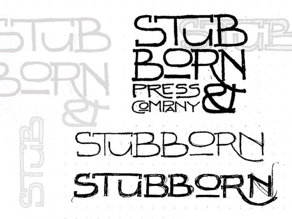 Stubborn Press & Company Logo - student project