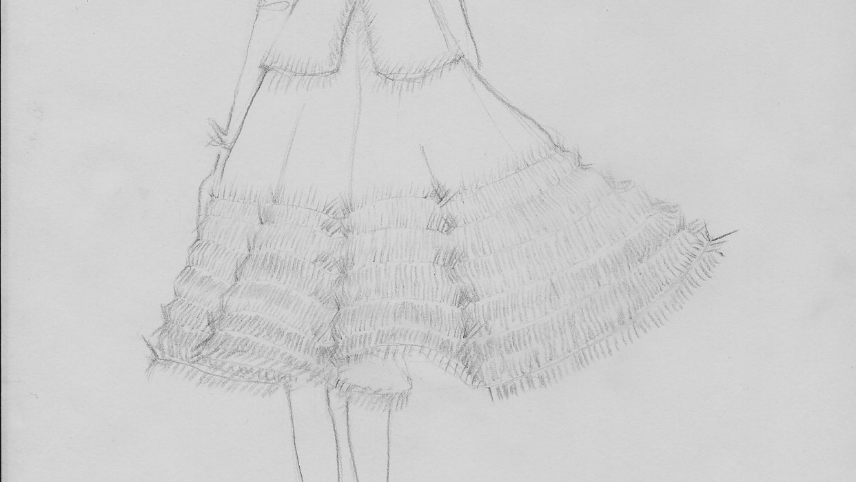 Sketch - Candid frills - student project