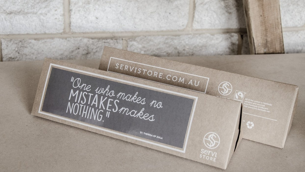 Servi Store Packaging Boxes - student project