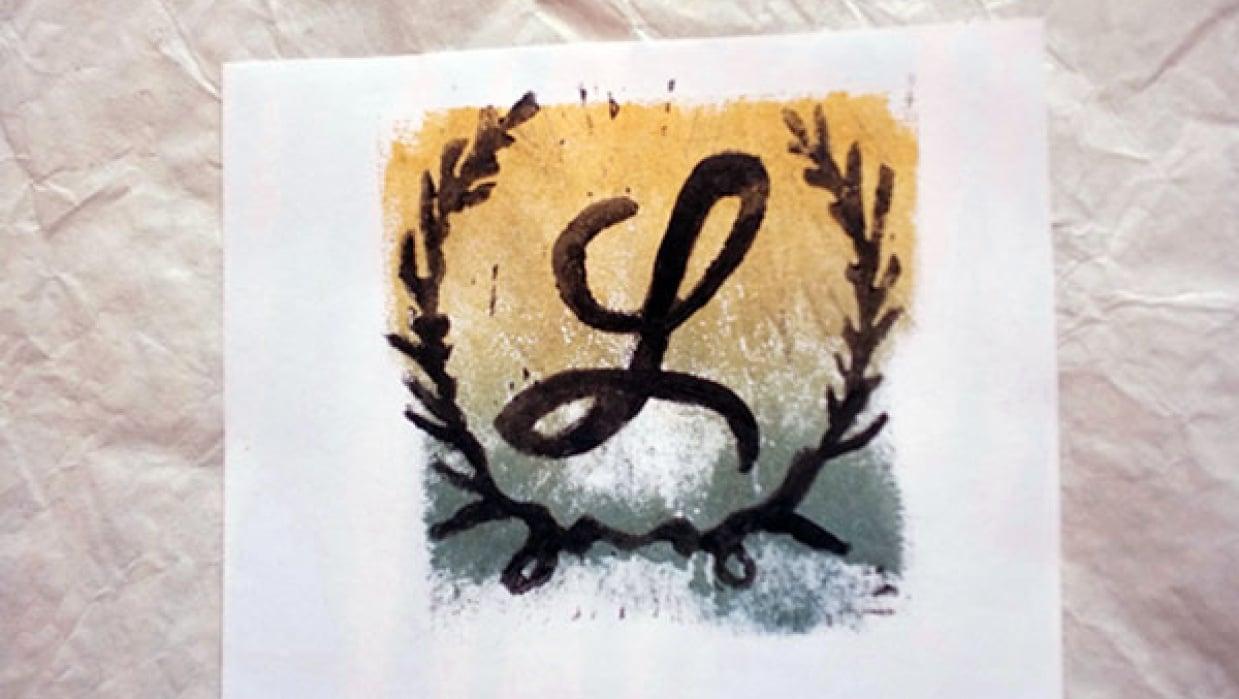 Monogram with Laurels - student project