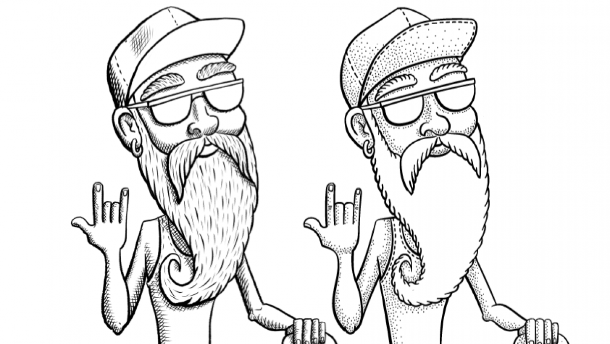 Old Skater: Inking - student project