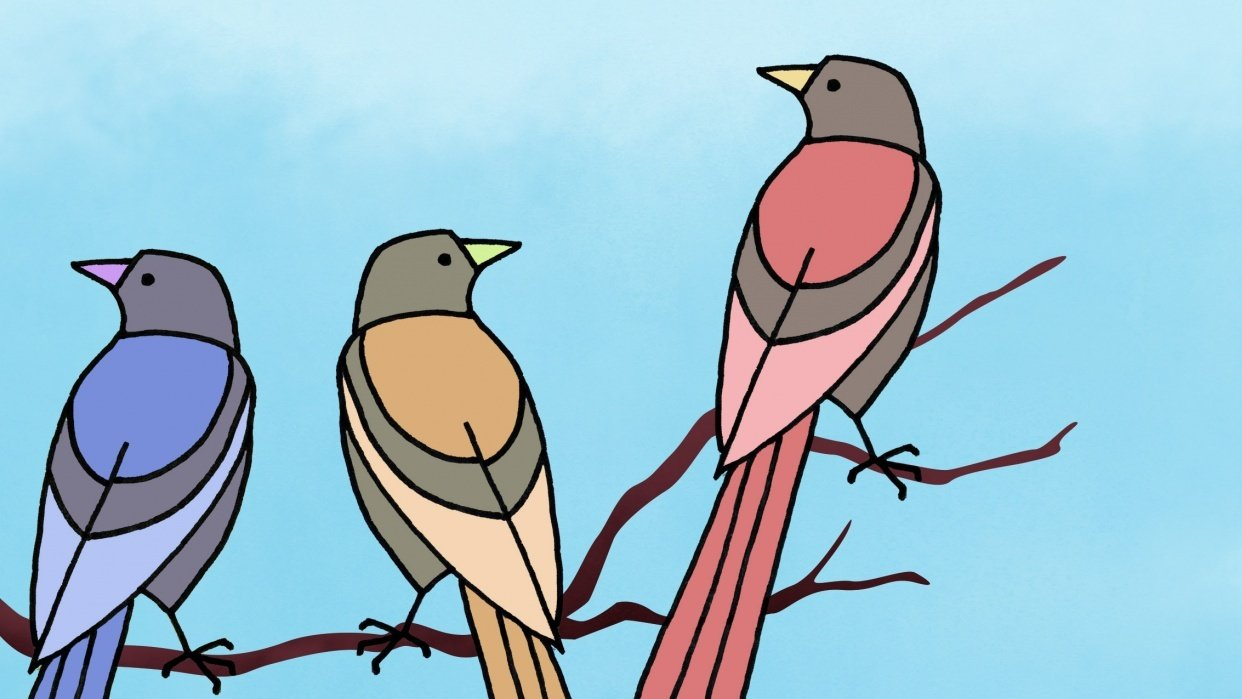 Lined-up Birds - student project