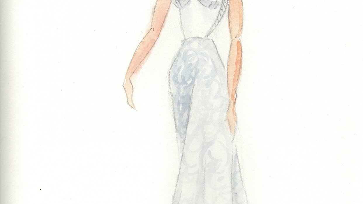Fun with Watercolor Fashion Mashup - student project