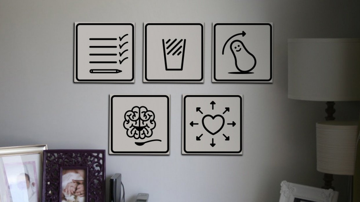 5 icons/reminders to myself - student project