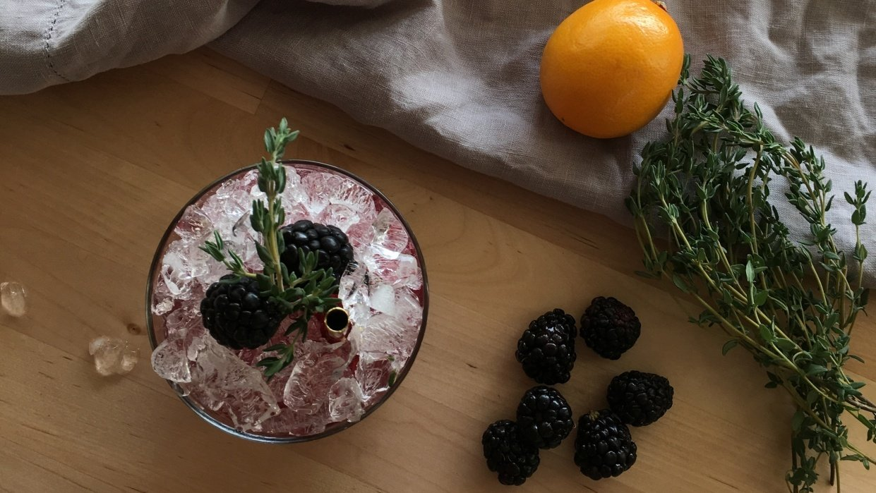 Whiskey Bramble Thyme - student project