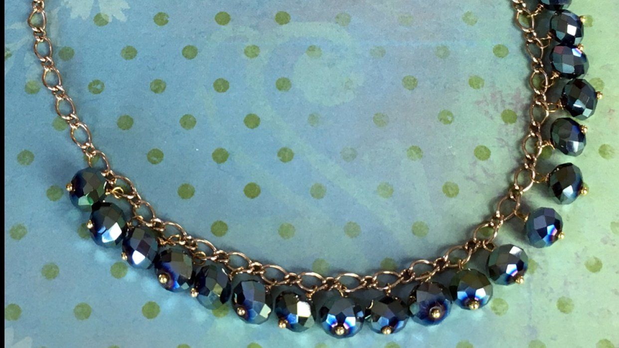 Dangling Bead Necklace Using The Same Color Beads - student project