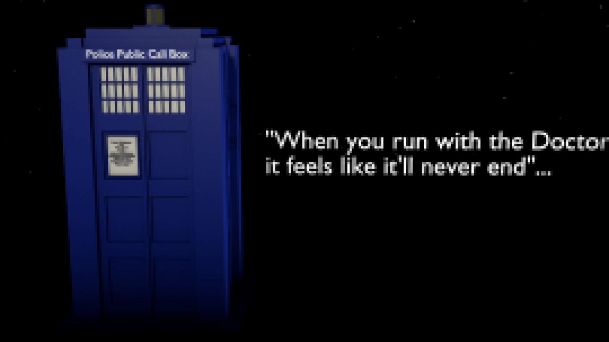 Dr Who's Tardis TV show poster - student project