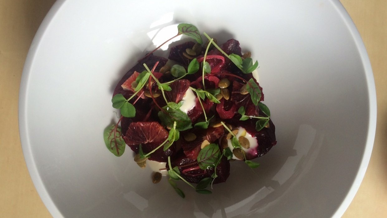 Beets & Blood Orange - student project