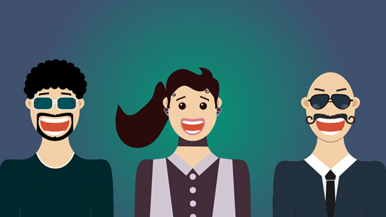 Flat Design Characters - 1st Project (Beginner) - student project