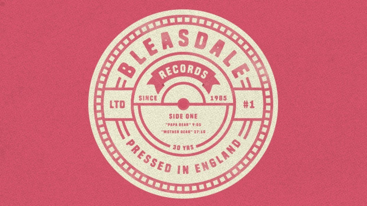 Vintage Record Label - student project