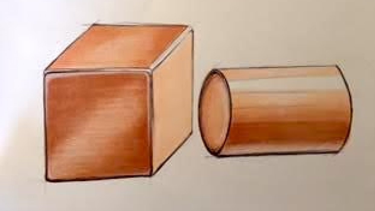 Cube and cylinder - student project
