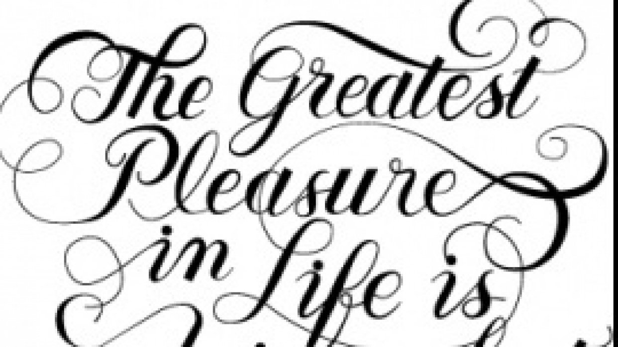 """""""The Greatest Pleasure ..."""" - student project"""