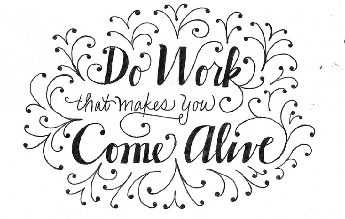 Work that makes you come alive - student project