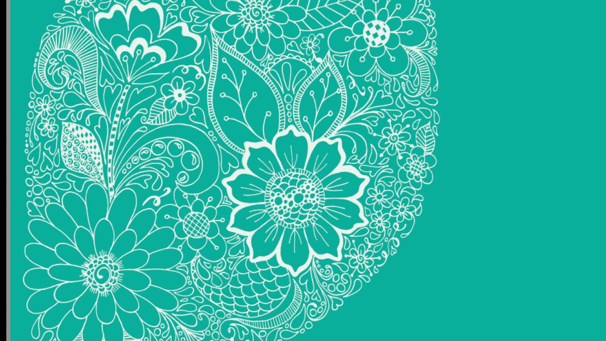 Floral Leaf Linework - student project