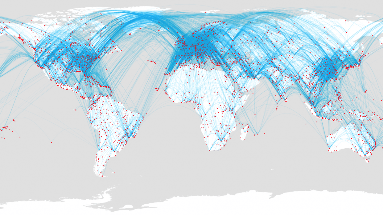 Airport routes - student project
