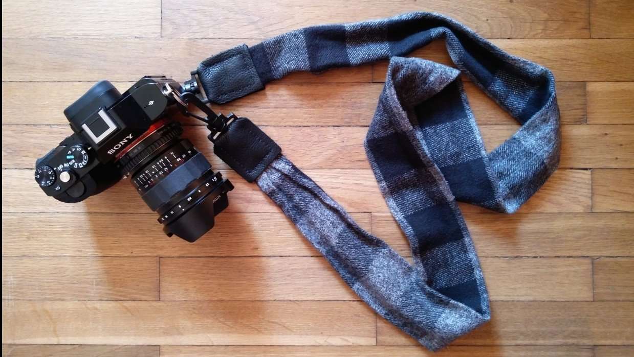 Plaid Flannel Strap for Sony a7S - student project