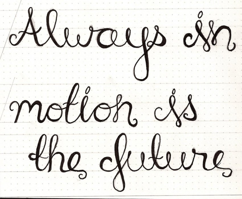 Always in Motion is the Future - student project