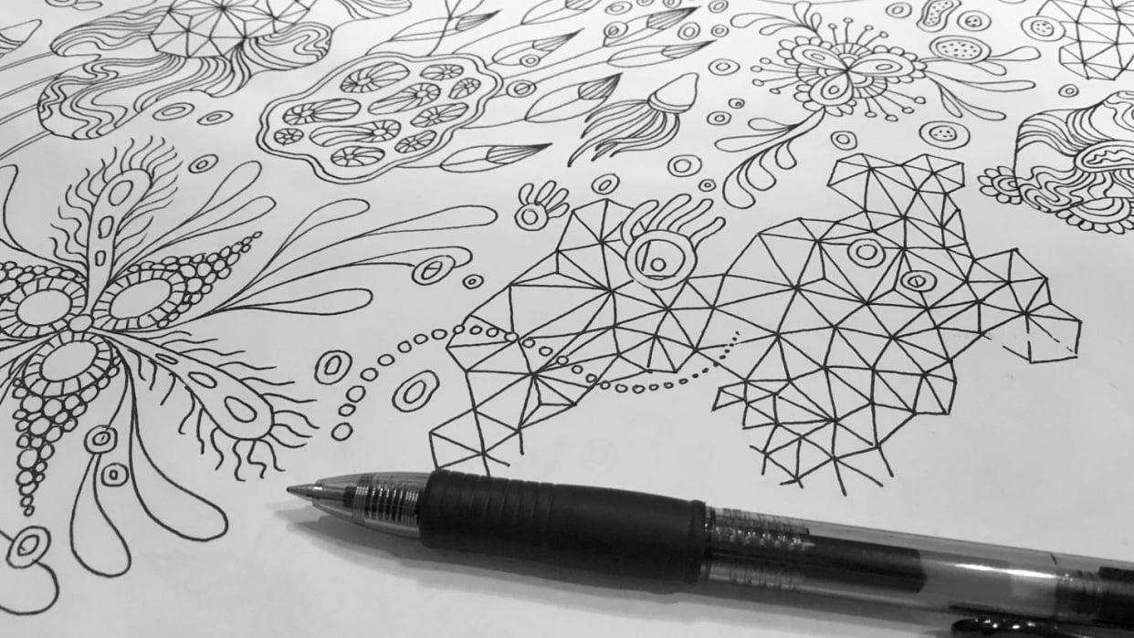 """Botanical Triangulation"" Pattern - student project"