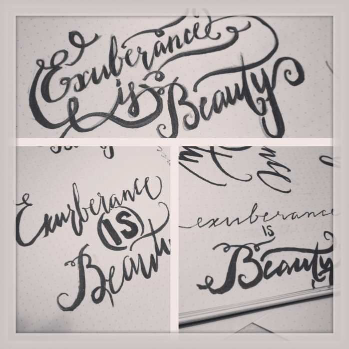 Exuberence is Beauty - student project