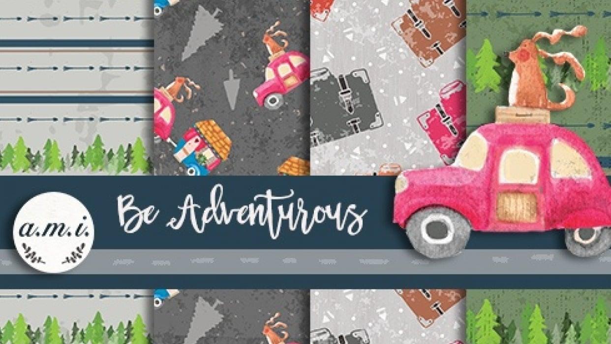 Be Adventurous Scrapbook Paper Project - student project