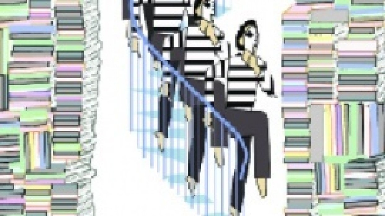Quiet:  Mime descending staircase - student project