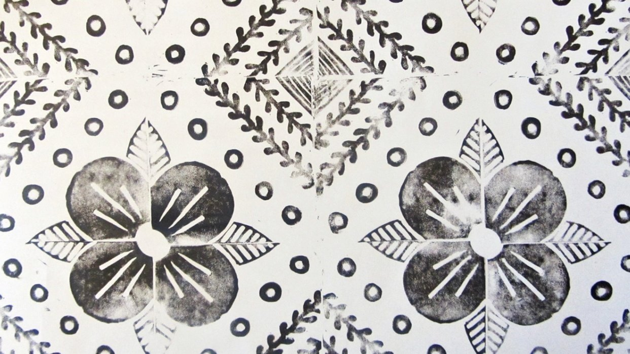 Block printed textile - student project