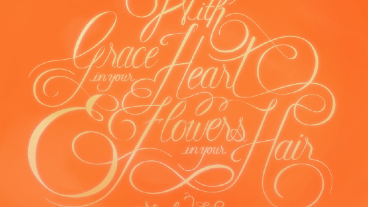 """""""With Grace in your Heart and Flowers in your Hair"""" - student project"""