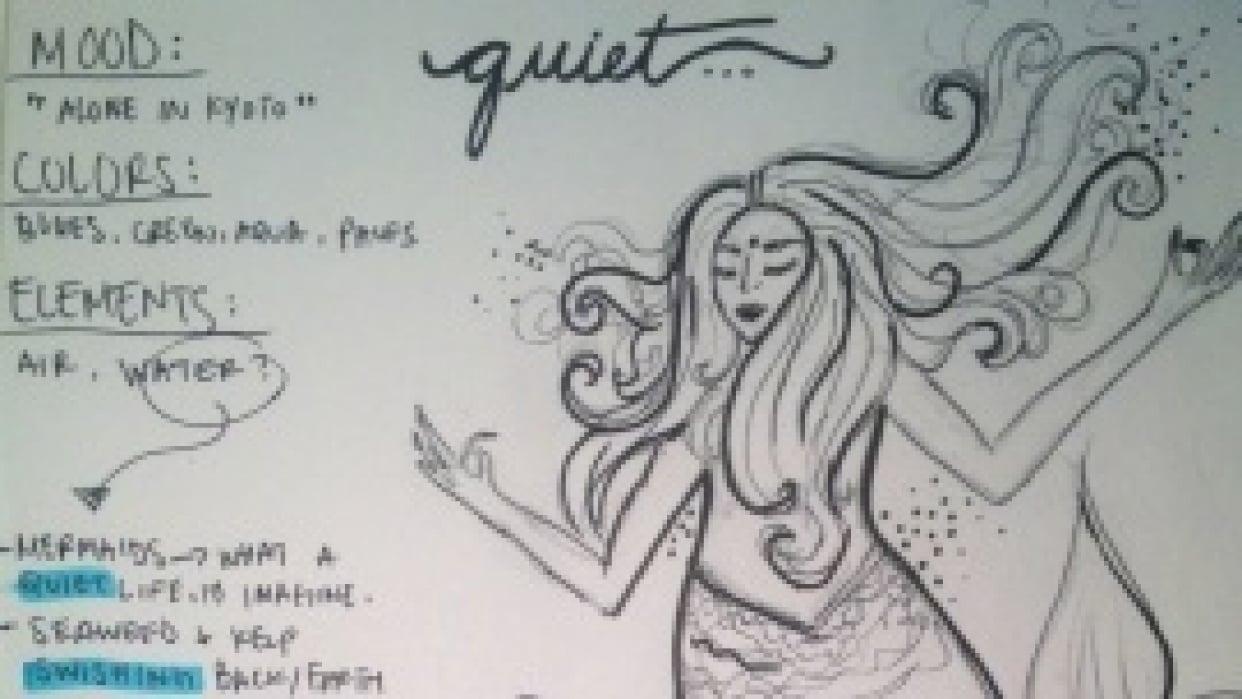 Meditative Mermaid. - student project