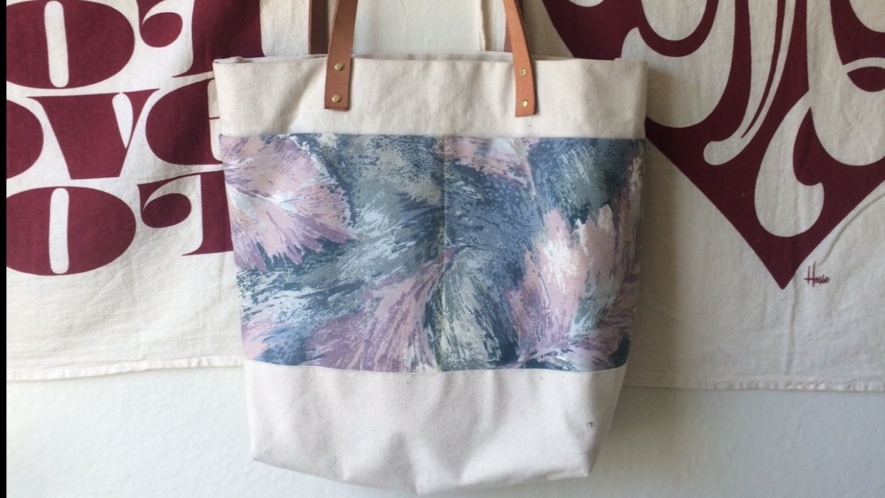 Abstract Feather Tote - student project