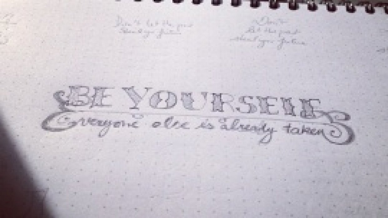 Be yourself, everyone else is already taken - student project
