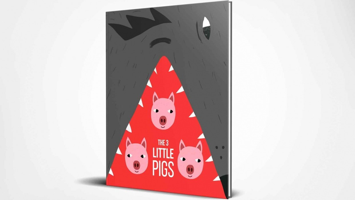 Children's book illustration | 3 Little Pigs | Kevin Foster  - student project