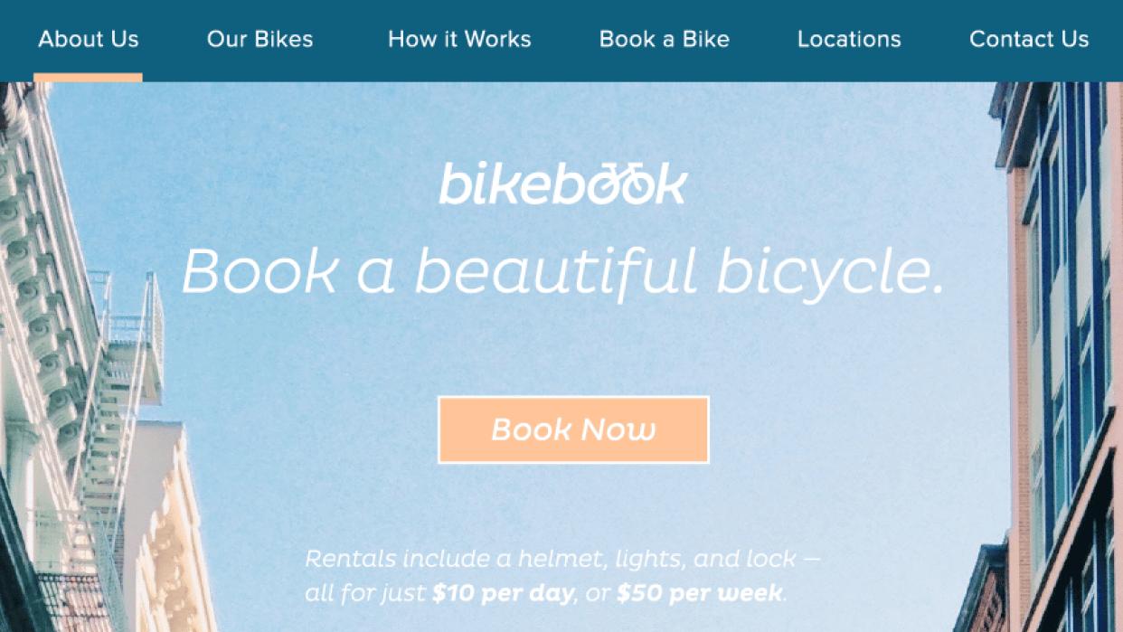 Bikebook Website - student project