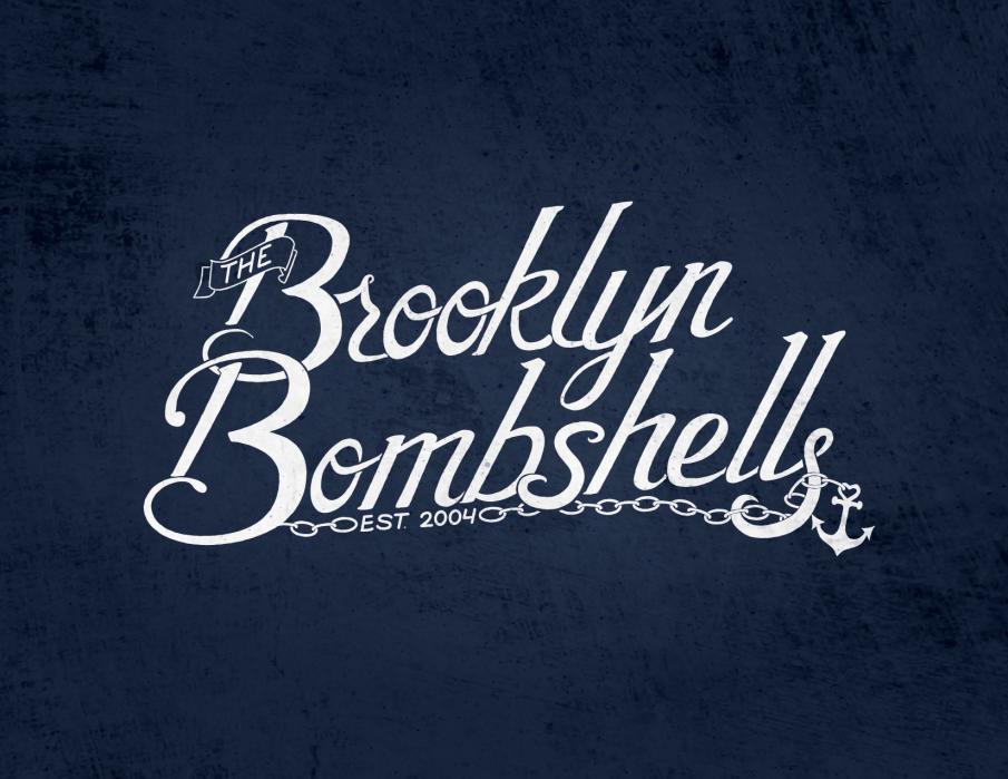 """Brooklyn Bombshells"" script logo - student project"