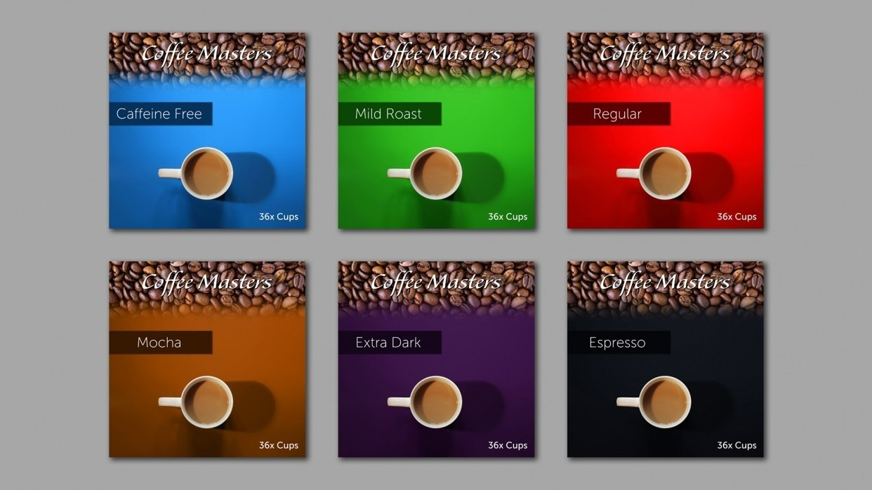Coffee Packaging Range - student project