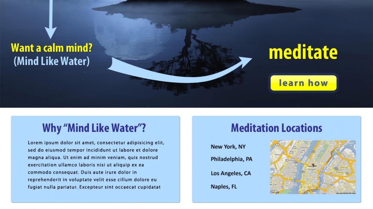 Mind Like Water Meditation - student project