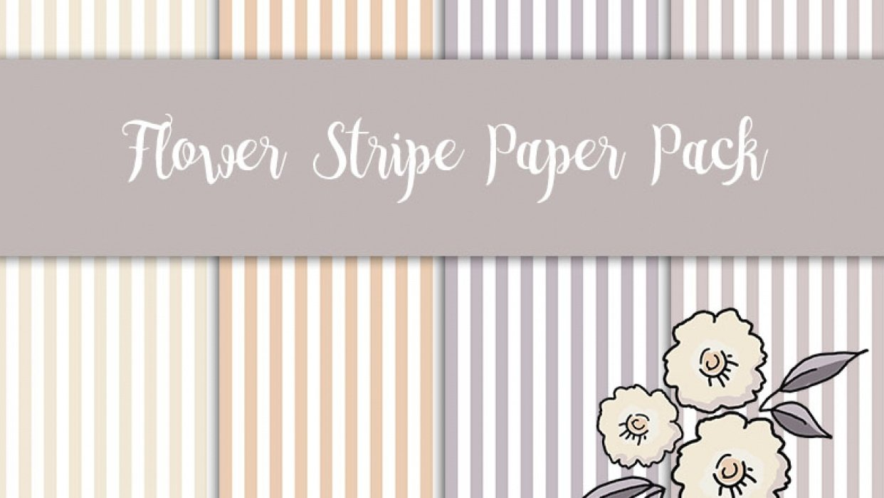 Flower Stripe Paper Pack - student project