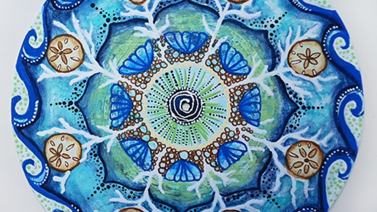 My Sea Themed Mandala - student project