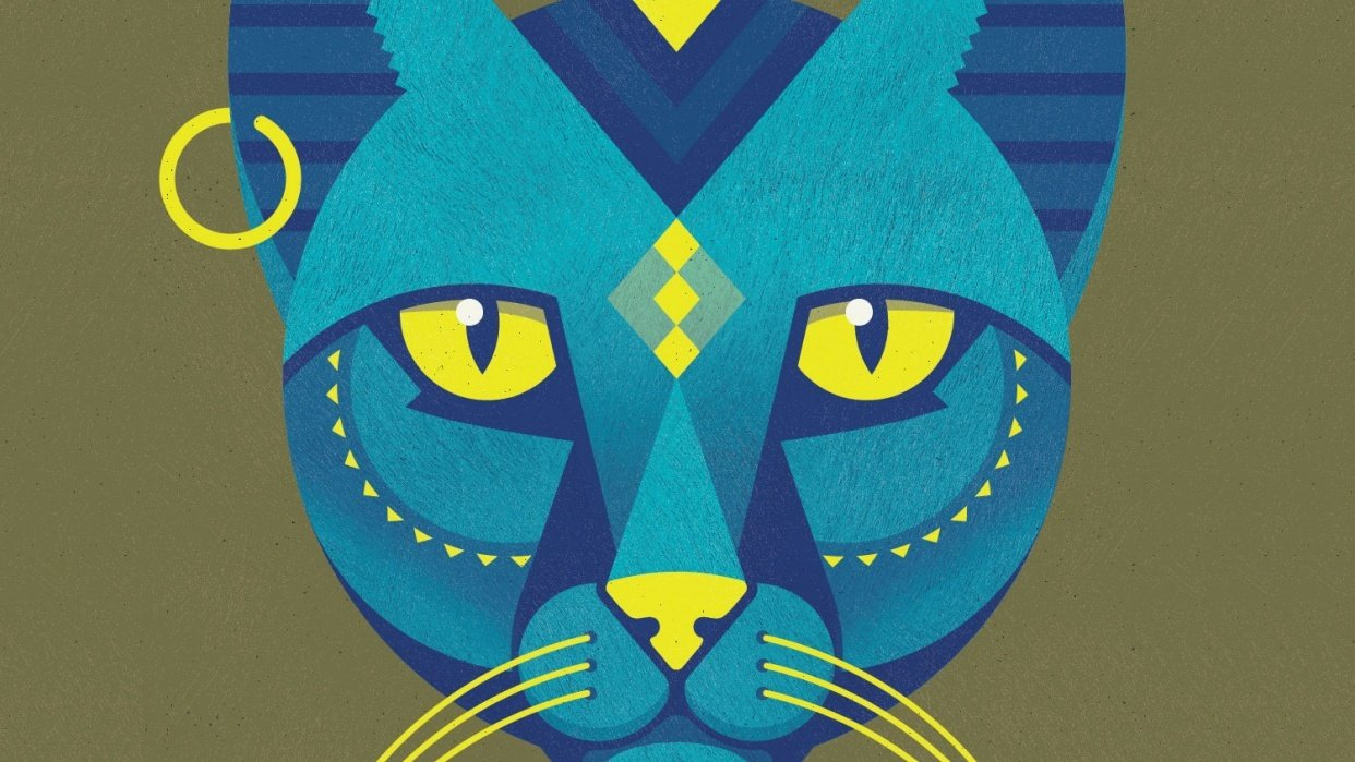 Egyptian inspired cat god - student project