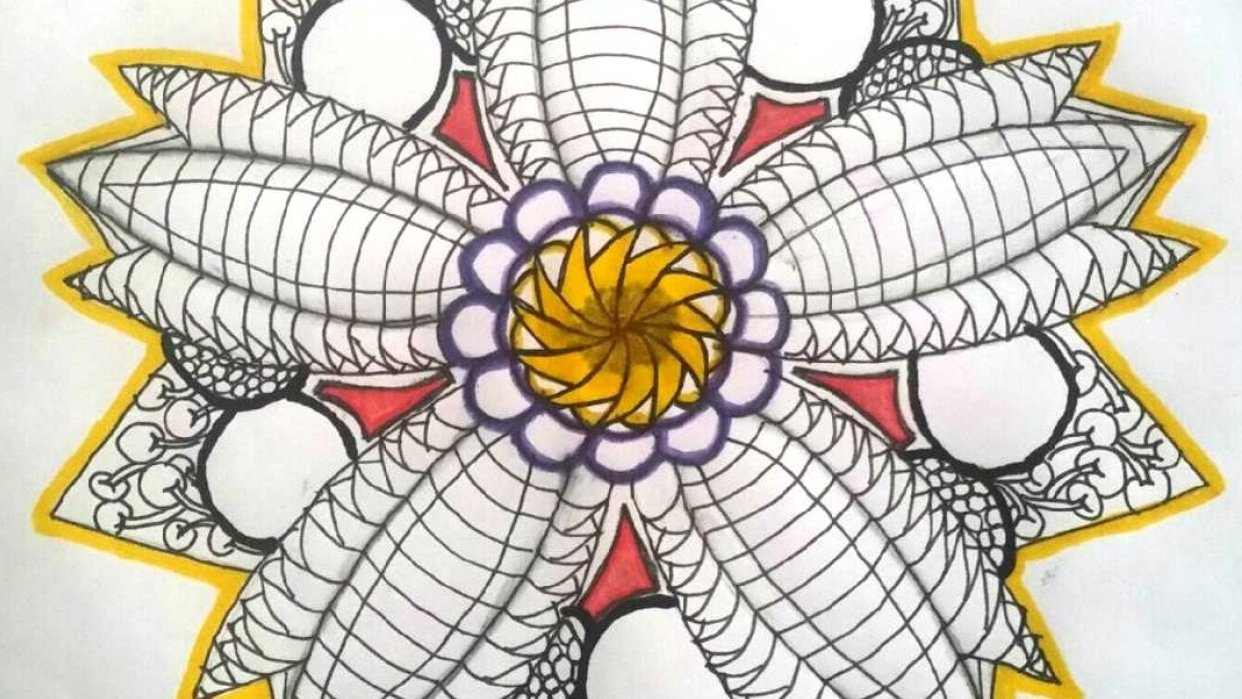 Flower Mandala - student project
