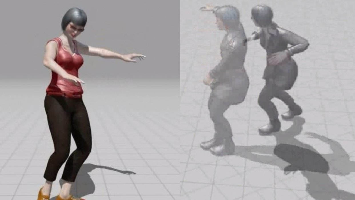 Eva one dancing - student project