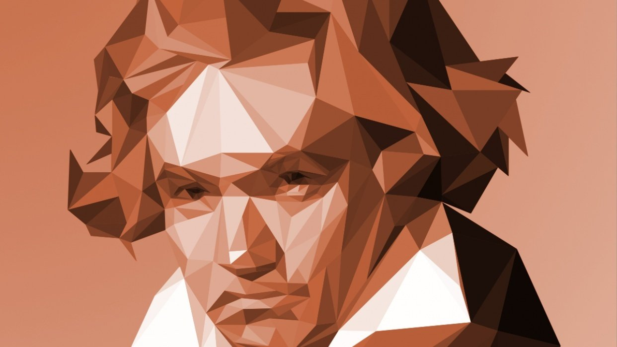 Low Poly Portraits of Classical Composers - student project