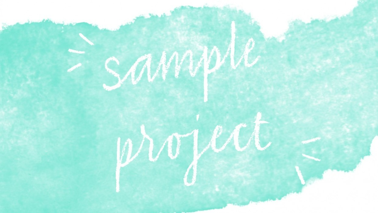 SAMPLE PROJECT - student project