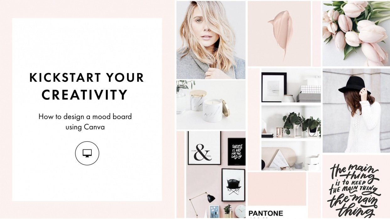 Kickstart Your Creativity: How to Design a Mood Board Using Canva - student project