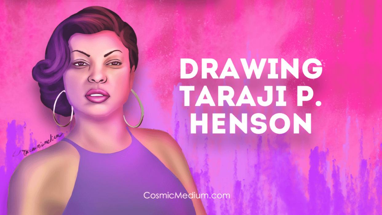 Illustrating Taraji P. Henson - student project