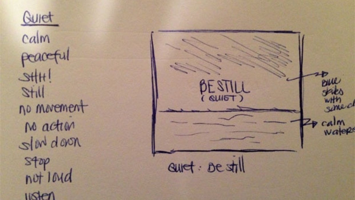 Quiet: Be Still - student project