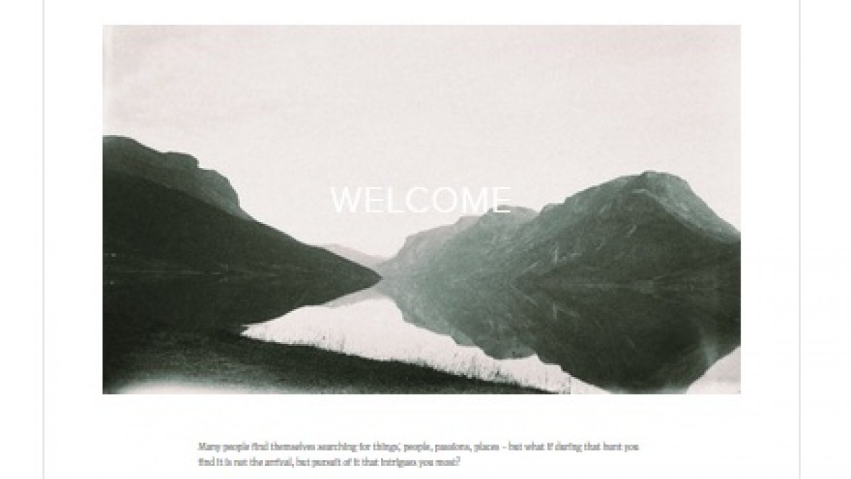 From Land Magazine - Squarespace Website Mockup - student project