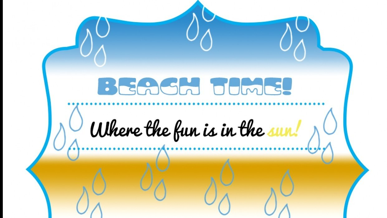 Beach time - student project