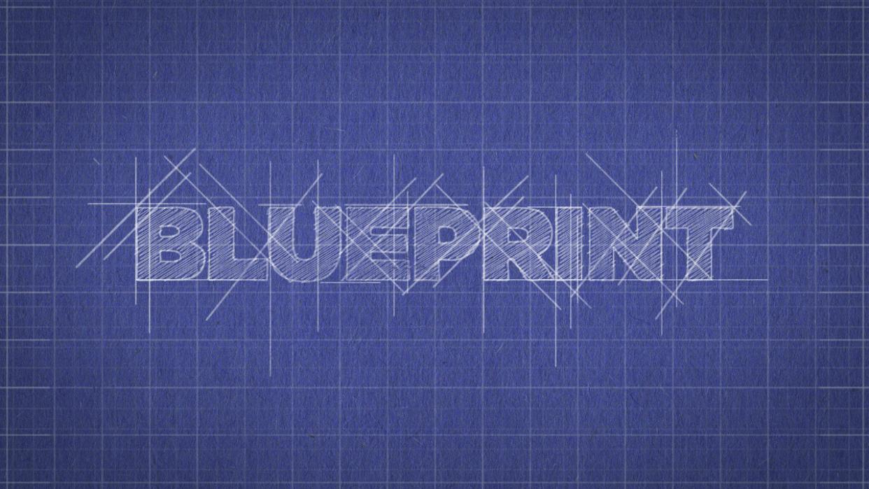 Blueprint Logo Reveal - student project