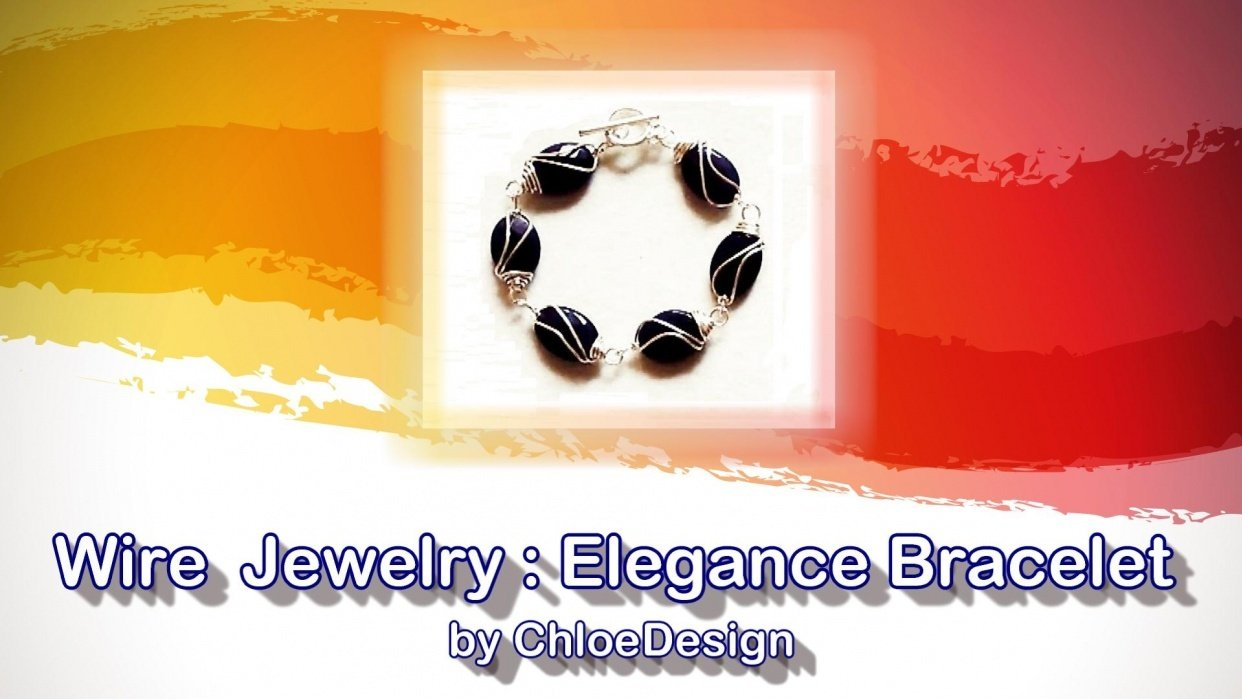 Handmade Wire Wrapping Jewelry : Elegance Bracelet - student project